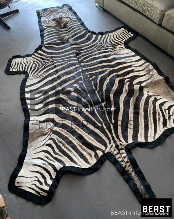 Schöne Zebrahaut mit dickem Filz.
