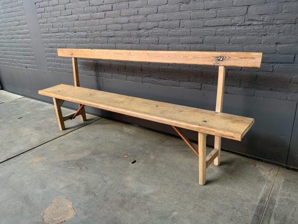 Vintage houten zitbank
