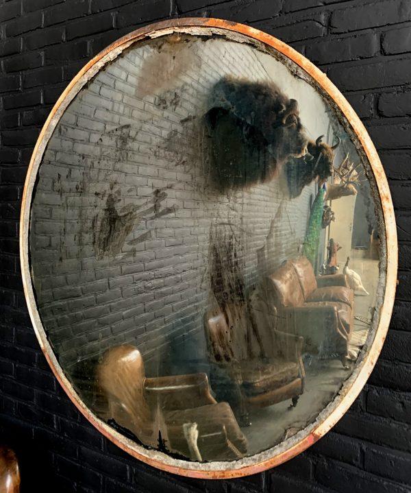 Decoratieve vintage convex spiegel