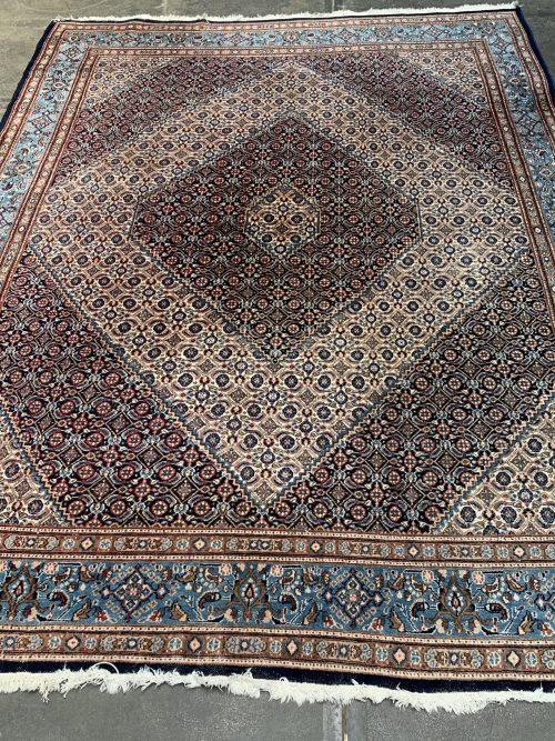Handgeknoopt vintage wollen Bidjar perzisch tapijt, oosters vloerkleed.