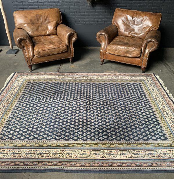 Handgeknoopt vintage wollen Mir perzisch tapijt / vloerkleed