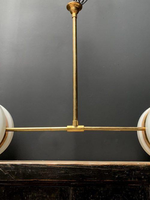 Antieke art deco lamp met 2 lichtpunten