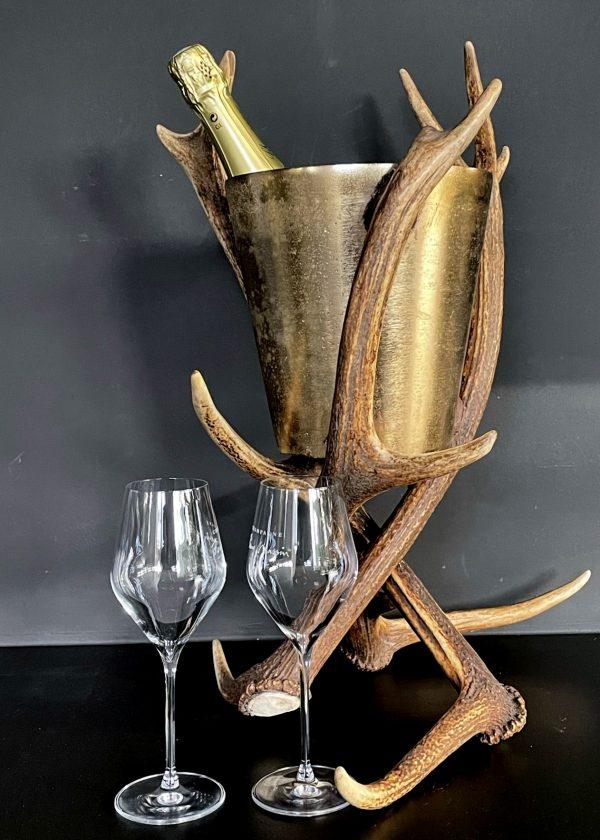 Champagnekoeler van gewei