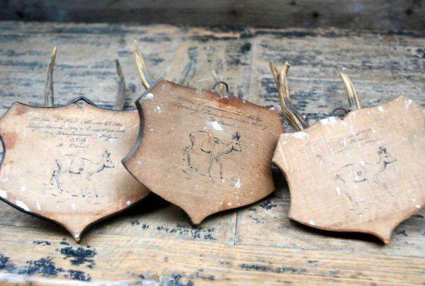Zeer oude, unieke reegeweitjes op houten paneeltjes