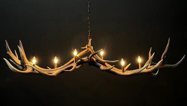 Gewei hanglamp kroonluchter XL met 6-lichten