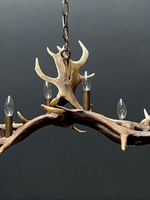 Antler lamp fallow deer