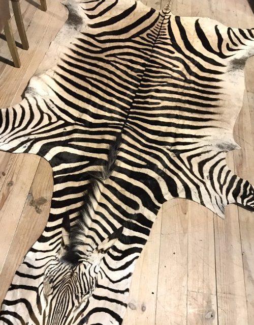 Excellent quality zebra skin
