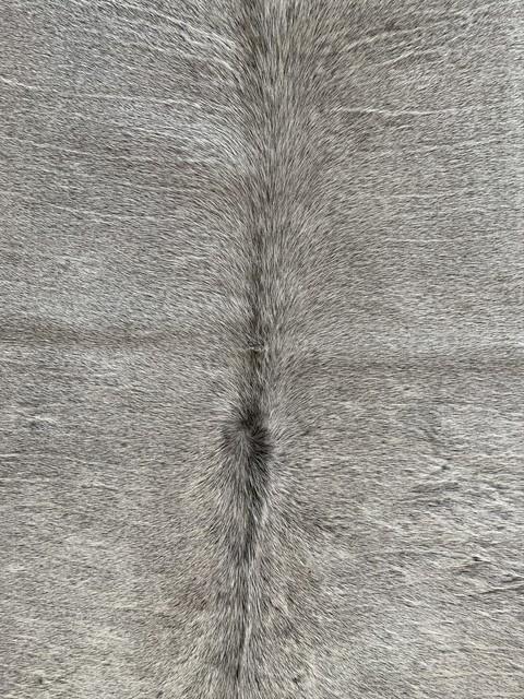 Gray cowhide.
