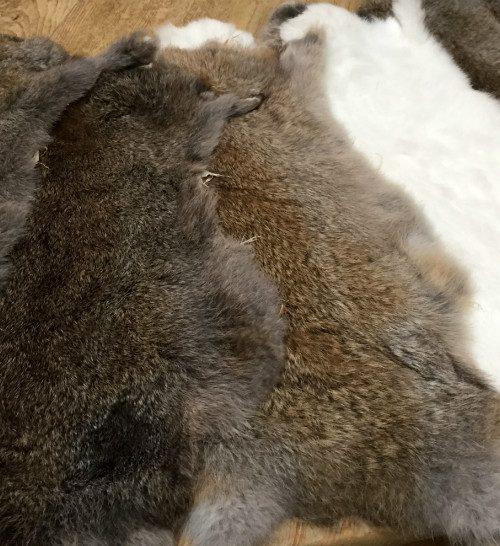 Neue gegerbte Kaninchenfelle