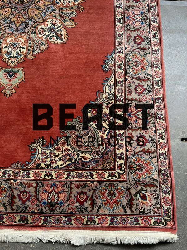 Handgeknoopt Kirman, Kerman perzisch tapijt