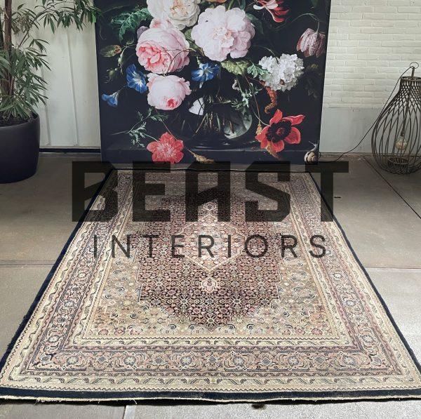 Vintage handgeknoopt Herati Bidjar perzisch tapijt