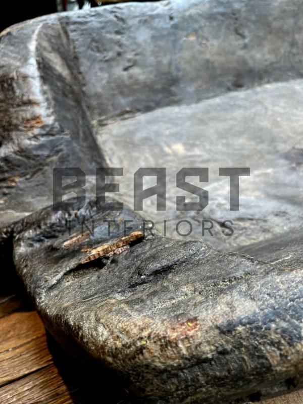 Grote antieke houten olijf bak