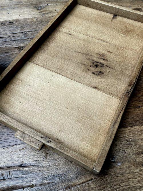 Handgemaakte houten dienblad